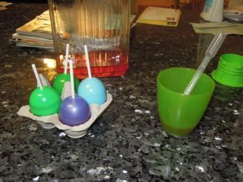 Easter egg popsicles