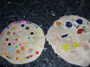 Final salt dough stone
